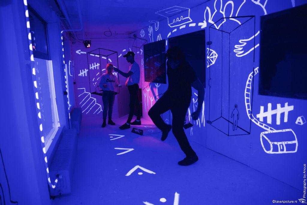 Blacklight Escape Room